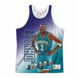 Koszulka Mitchell & Ness NBA Behind The Back Tank Charlotte Hornets - Larry Johnson - MSTKMI19002-CHOWHITLJO
