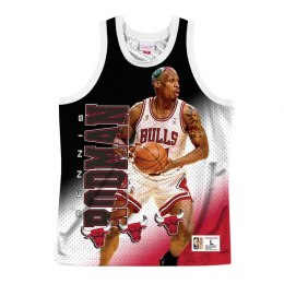 Koszulka Mitchell & Ness NBA Behind The Back Tank Chicago Bulls - Dennis Rodman - MSTKMI19002-CBUWHITDRD
