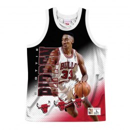 Koszulka Mitchell & Ness NBA Behind The Back Tank Chicago Bulls - Scottie Pippen - MSTKMI19002-CBUWHITSPI