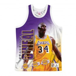 Koszulka Mitchell & Ness NBA Behind The Back Tank Los Angeles Lakers - Shaquille Oneal - MSTKMI19002-LALWHITSON