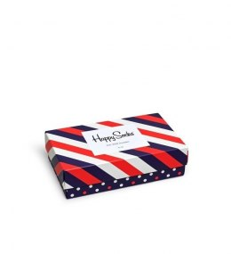 Giftbox 3-pak Skarpety Happy Socks Classic Stipe XSTR08-6000