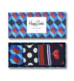 Giftbox 4-pak Skarpety Happy Socks Nautical - XNAV09-6300