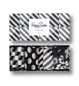 Giftbox 4-pak Skarpety Happy Socks Seasonal Black & White - XBLW09-9100
