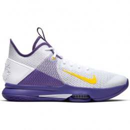 Buty Nike LeBron Witness IV White/Voltage Purple - BV7427-100
