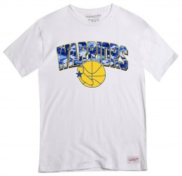 Koszulka Mitchell & Ness Golden State Warriors NBA Squadra Tee - BMTRSC18160-GSWWHIT